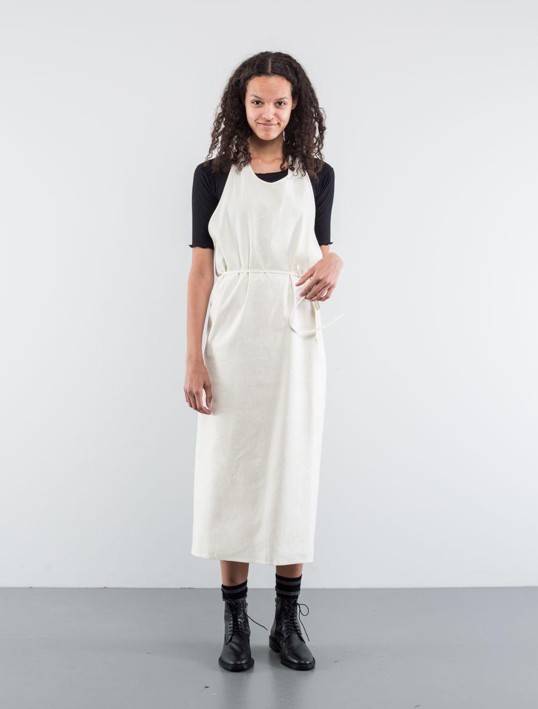 Base Range Apron Dress Raw Silk