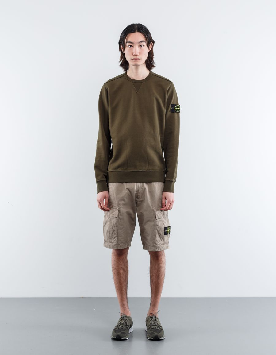 Stone Island 681562740 V0054 Classic Crew Neck Sweatshirt Mi Green