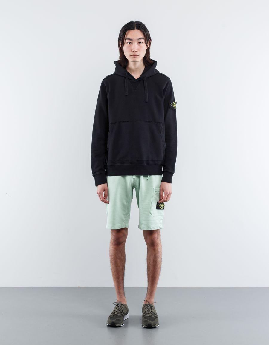 Stone Island 681562840 V0029 Classic Hooded Sweatshirt Black