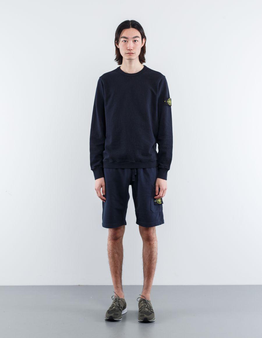 Stone Island 681565360 V0020 Garment Dyed Sweatshirt Navy
