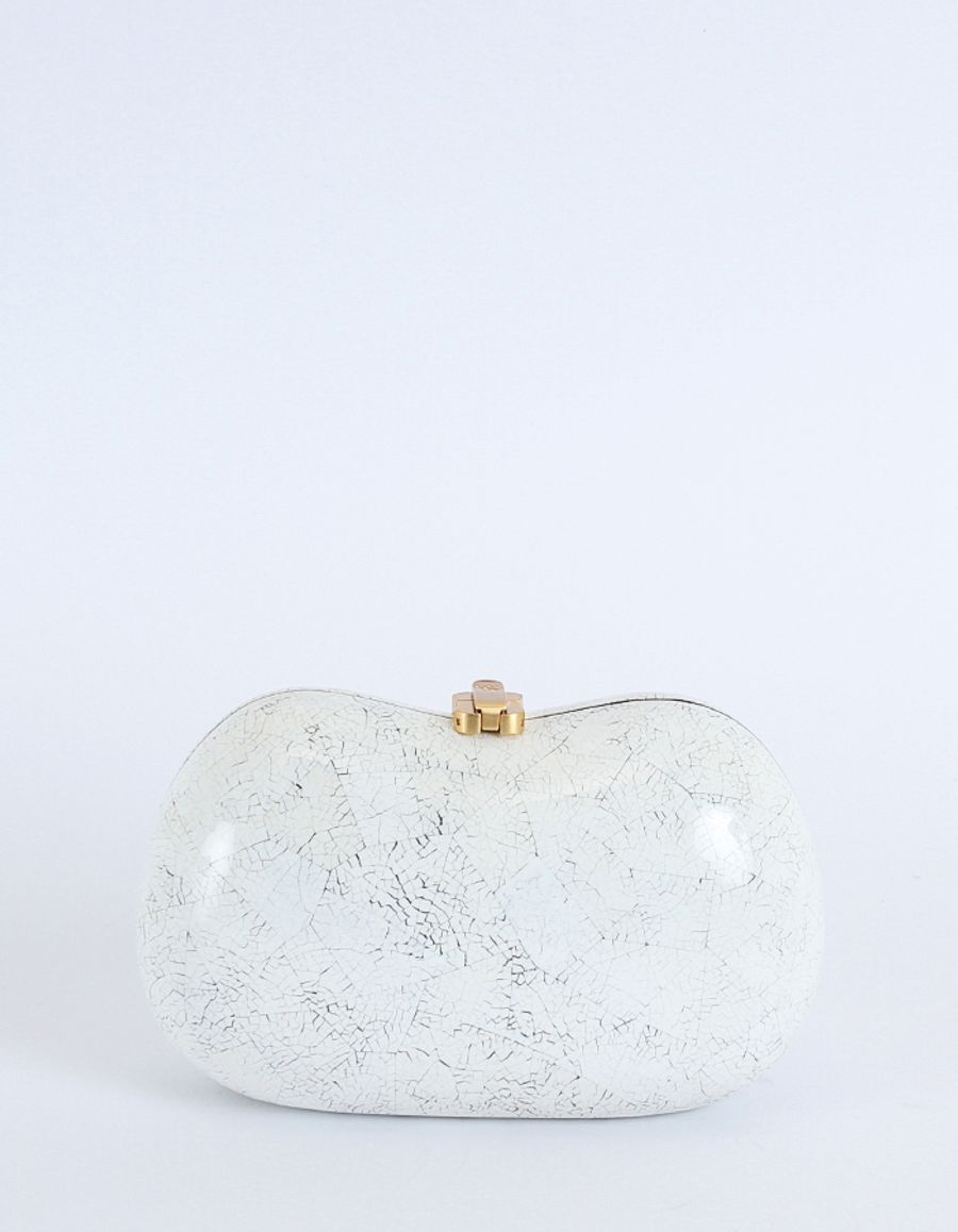 Rocio Ramesses Clutch White Shell