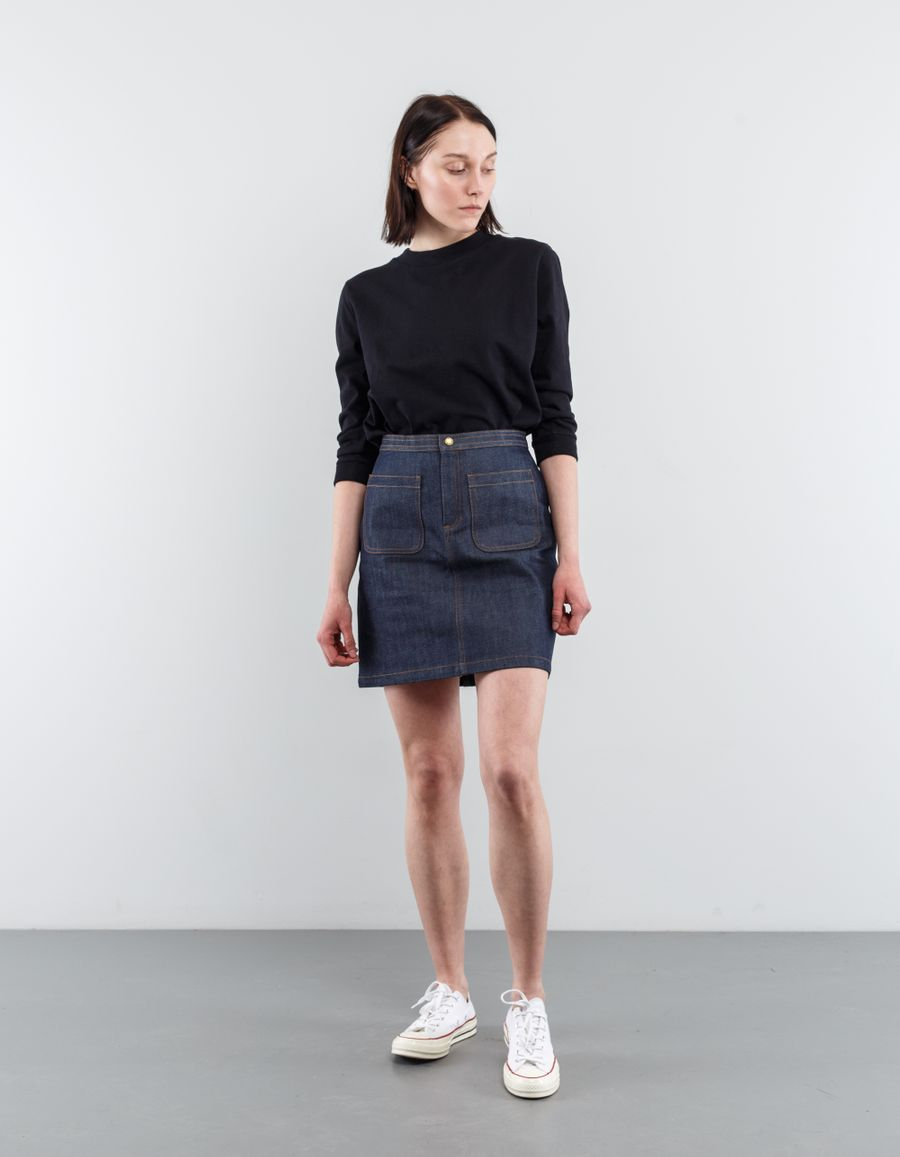 A.P.C. 70's Denim Skirt Indigo