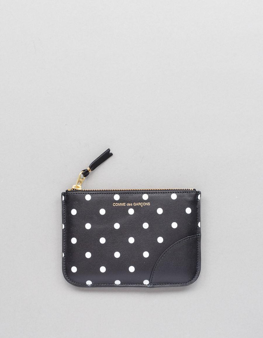 Comme des Garçons Wallet Rounded Zip Case -Dots Black