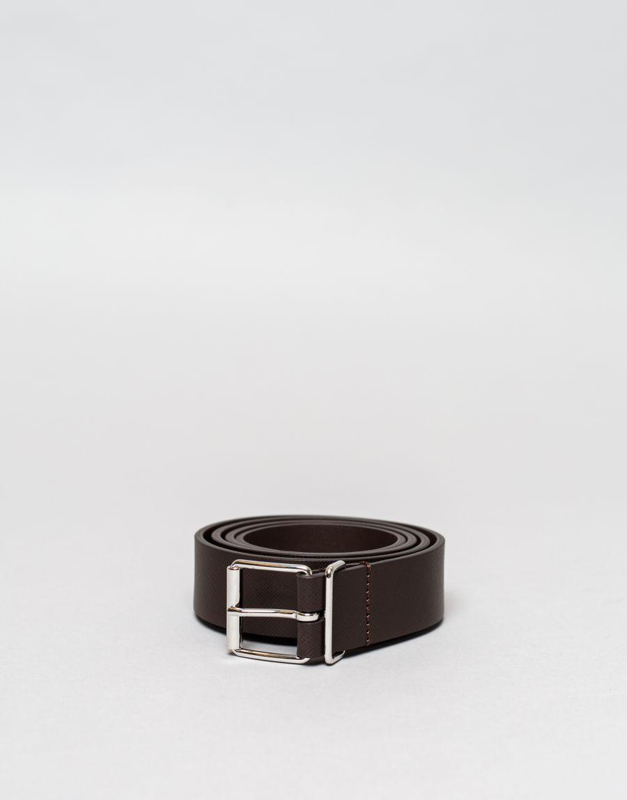 Anderson's Caviar Leather Belt Dark Brown