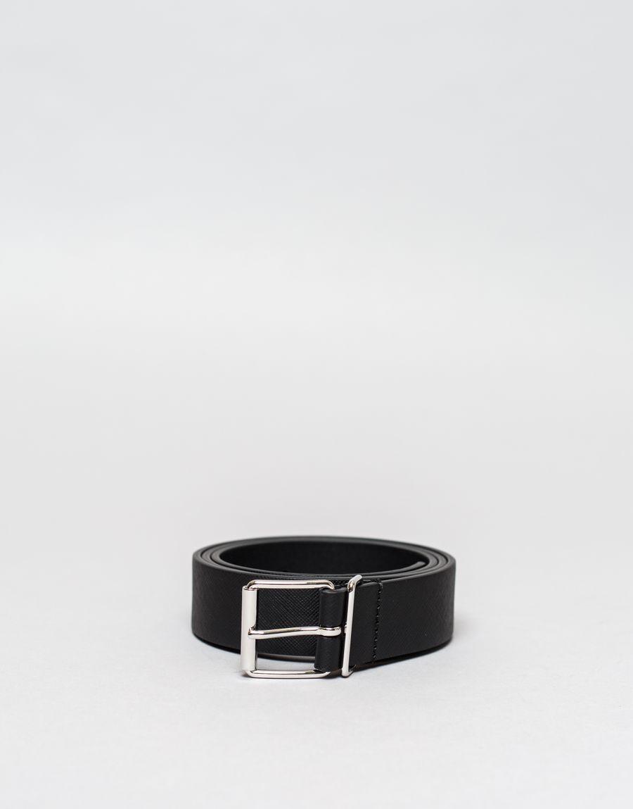Anderson's Caviar Leather Belt Black