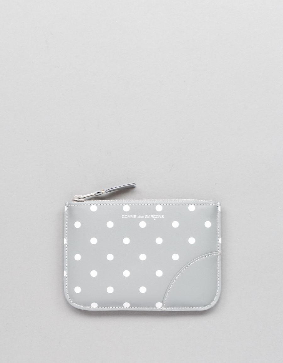 Comme des Garçons Wallet Rounded Zip Case - Dots Grey