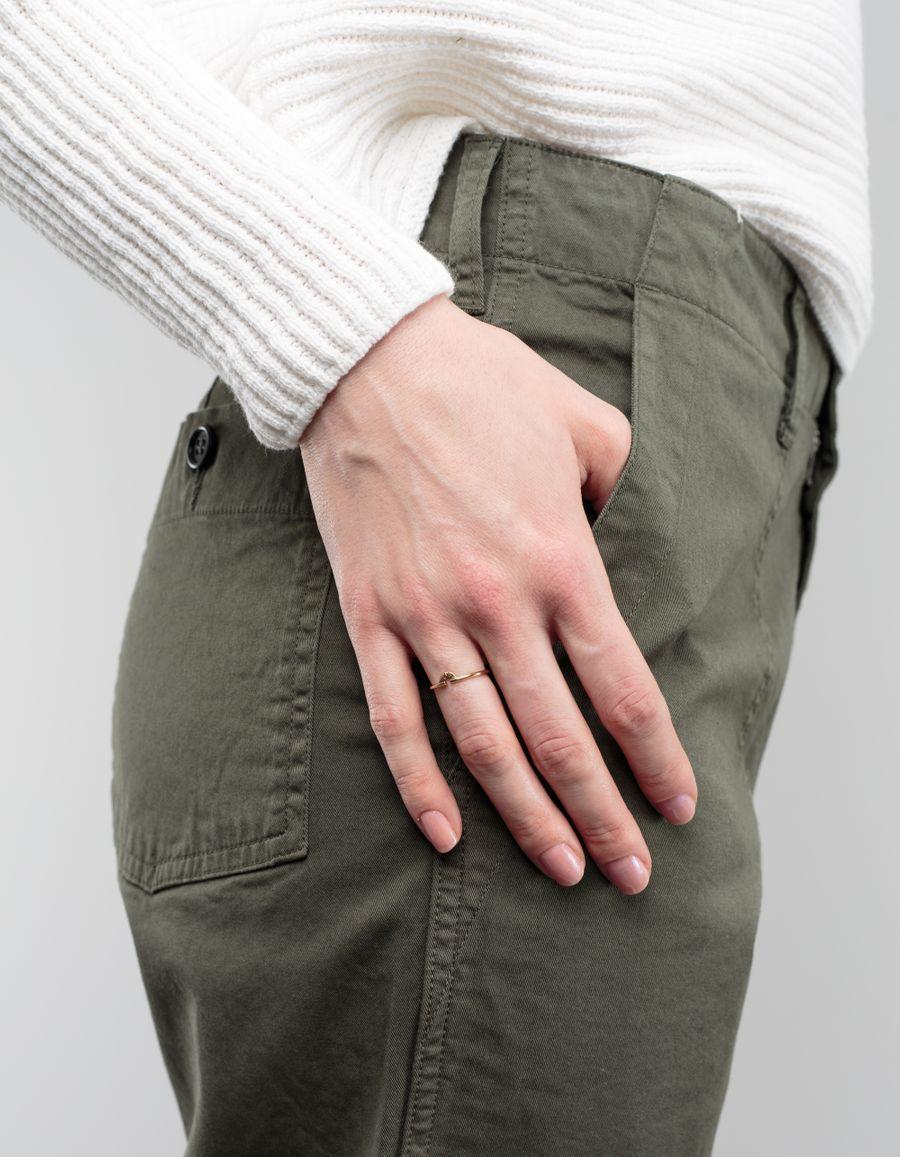 Laura Lee Mini Textured Arc Ring 9ct